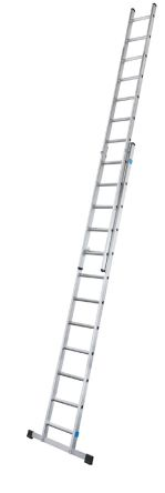 Extension Ladder 2 x 8 steps Aluminium 3.8m open length product photo