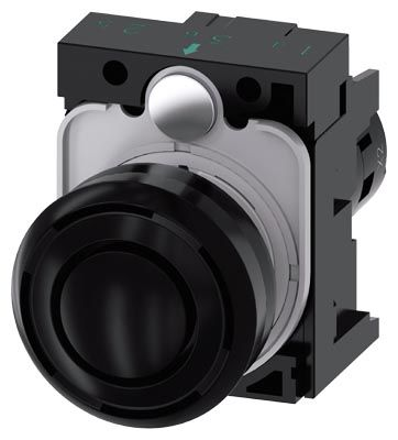 Black Front Mount Buzzer SIRIUS ACT Series, 29.5 mm diameter, 24 V ac/dc product photo