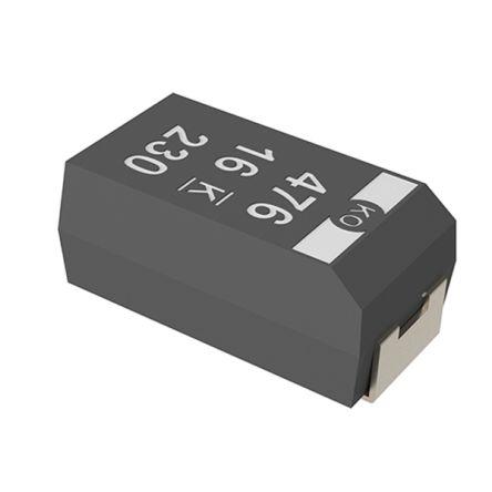 KEMET Tantalum Capacitor 330μF 6 3V dc Electrolytic Solid ±20% Tolerance  T520 Series