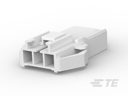 176293-1 - Female Crimp Connector Housing -, 3.96mm Pitch, 3 Way, 1 Row product photo
