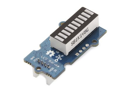Seeed Studio 104020006, Grove LED Bar V2.0 LED Matrix Display 10 Segment LED Gauge Bar, Module With MY9221
