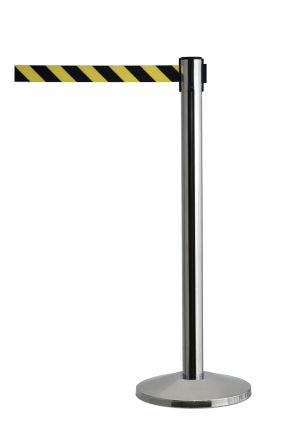 barrier 2.3m yellow/ black chevron