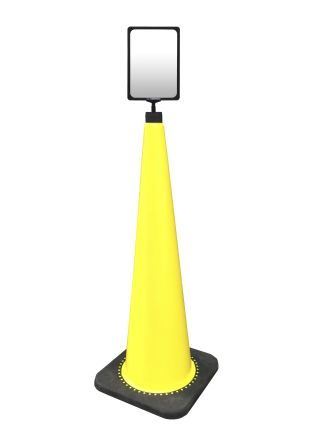 RS Pro Weighted Yellow 900mm PVC Safety Cone