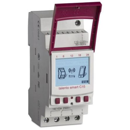 1 Channel Digital DIN Rail Time Switch Measures Days, Hours, Minutes, Seconds, 110  230 V ac