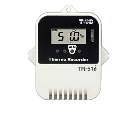 T&D Company TR-5i Temperature Data Logger, Battery Powered, LCD Display, IP67
