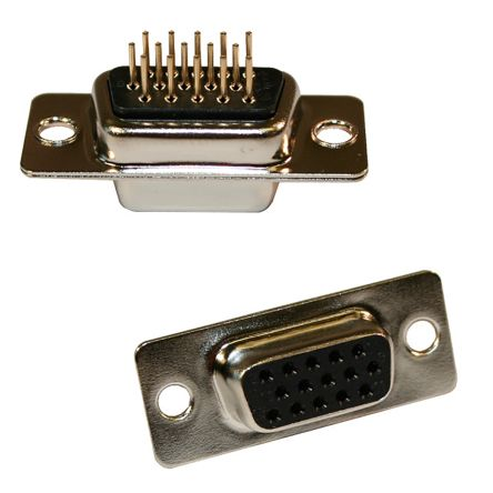 Surface Mount 15 Contacts DE NORCOMP 200-015-263R001 D Sub Connector Steel Body Receptacle Right Angle 200 Series