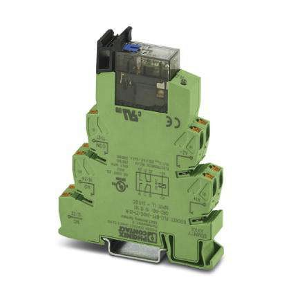 PLC-RPT Series 24V dc DIN Rail Interface Relay Module, DPDT, Push In product photo