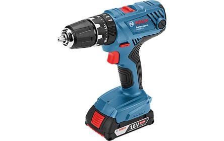 Bosch 18V Cordless Impact Drill, 1.5 (Min) mm, 13 (Max) mm Autolock Chuck, 2Ah Battery Capacity, Euro Plug