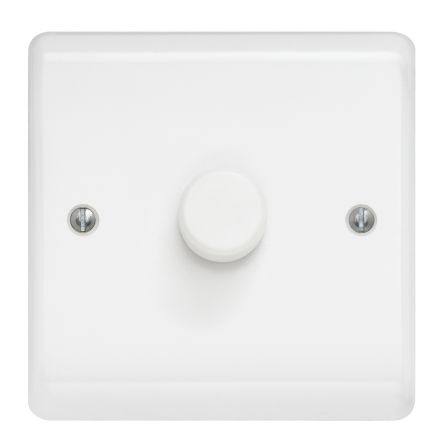 Single gang BS 400W dimmer switch white