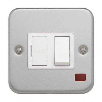 Cla3367 Switched Fused Spur Flex Outlet And Neon Contactum