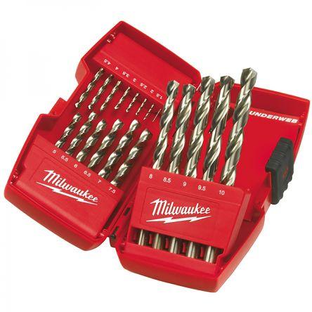 Milwaukee 4932352374 HSS-G Drill Bit Set Metal 19 Pieces Set 19 Piece 1-10mm