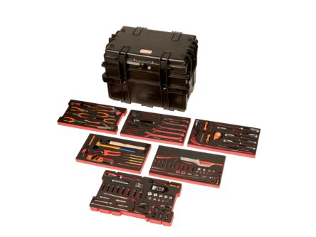 4 drawer Plastic Tool Chest, 470mm x 400mm x 600mm product photo