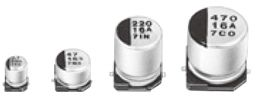 Panasonic Aluminium Electrolytic Capacitor 470μF 16V dc 8mm S Series Aluminium Electrolytic, Surface Mount Electrolytic