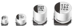 Panasonic 10μF 25V dc Aluminium Electrolytic Capacitor, Surface Mount 4 Dia. x 5.4mm +85°C 4mm 1mm