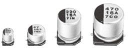 Panasonic 100μF 50V dc Aluminium Electrolytic Capacitor, Surface Mount 8 Dia. x 10.2mm +85°C 8mm 3.1mm