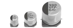 Panasonic 220μF 10V dc Aluminium Electrolytic Capacitor, Surface Mount 6.3 Dia. x 7.7mm +105°C 6.3mm 1.8mm