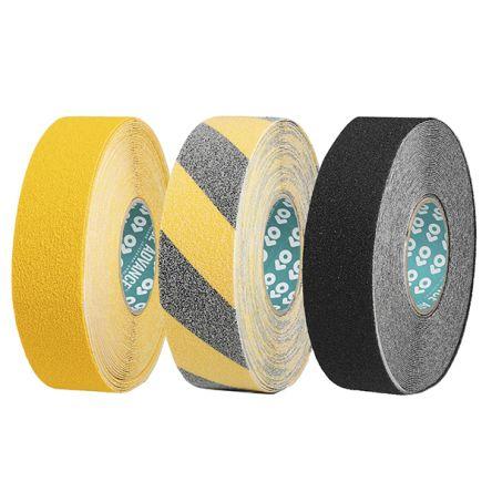 Advance Tapes Black, Yellow Anti-Slip Tape - 18m x 50mm