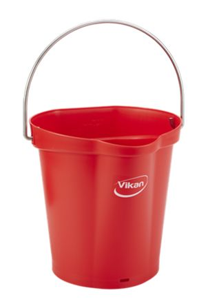 6L Red Bucket With Handle product photo