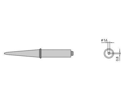 Weller CT5 C6 3.2 mm Straight Chisel Soldering Iron Tip