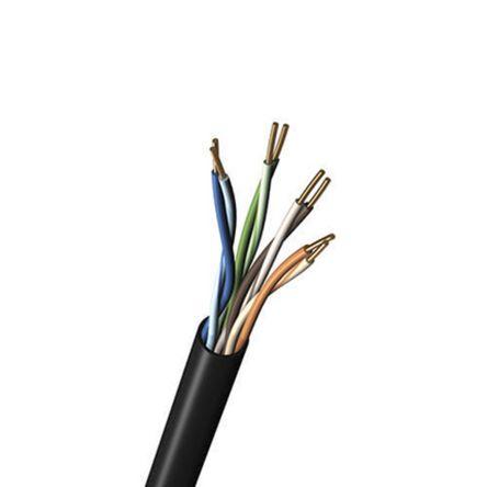 Belden Black Cat5e Cable U/UTP, 1000ft Unterminated