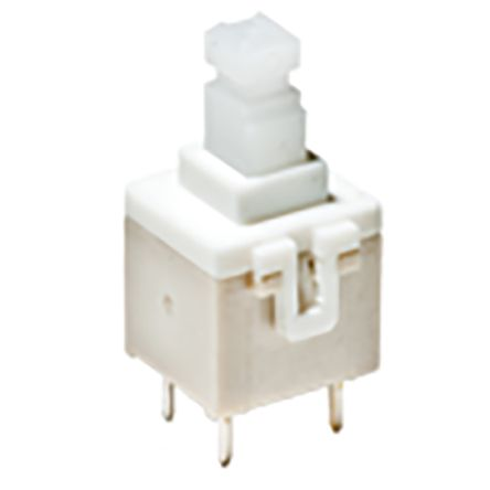 Plunger Tactile Switch, Double Pole Single Throw (DPST) 100 mA Through Hole