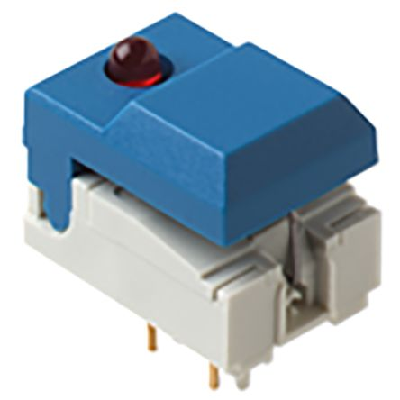 C & K Single Pole Double Throw (SPDT) Momentary Push Button Switch, 17.3 x 12.3mm, Through Hole, 24V dc