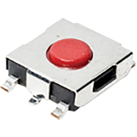 IP40 Top Tactile Switch, Single Pole Single Throw (SPST) 50 mA 3.4mm Surface Mount