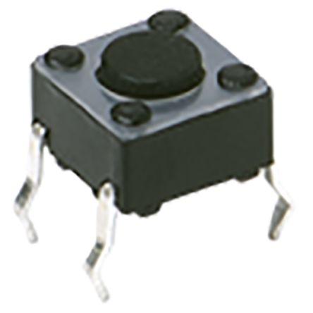 IP40 Side Tactile Switch, Single Pole Single Throw (SPST) 50 mA Through Hole