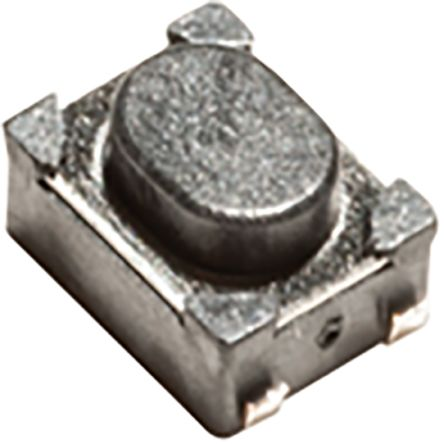 IP40 Grey Top Tactile Switch, Single Pole Single Throw (SPST) 50 mA 2.5mm Surface Mount