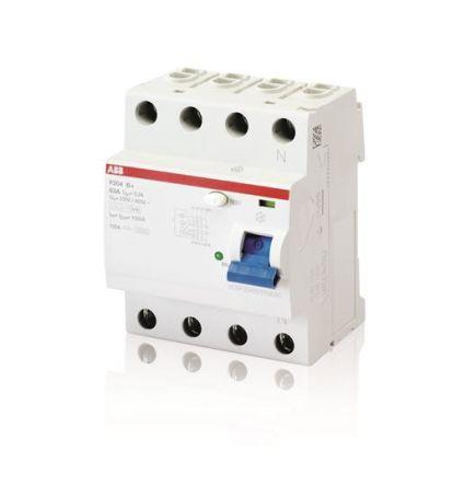 ABB 4 Pole Type B Residual Current Circuit Breaker, 25A F200, 30mA