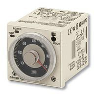 Omron ON Delay Multi Function Timer Relay, Crimp, 0.1 S → 600 h, DPDT, 2 Contacts, DPDT