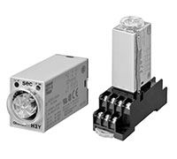 Omron ON Delay Time Delay Relay, Plug-In, 0.04 s → 3 h, DPDT, 2 Contacts, DPDT, 24 V dc