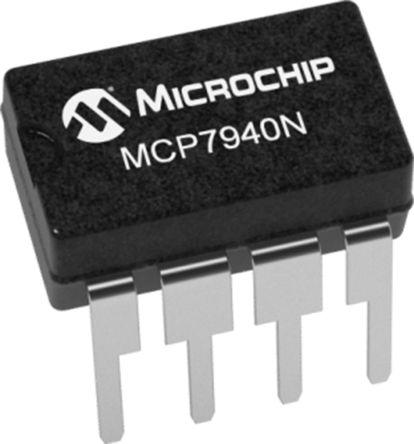 Microchip Technology MCP7940N-E/SN, Real Time Clock (RTC) Serial-I2C, 8-Pin SOIC