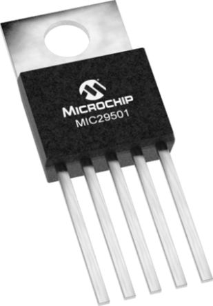 Microchip MIC29501-5.0WU, LDO Regulator, 5A, 5 V, ±2% 5-Pin, D2PAK