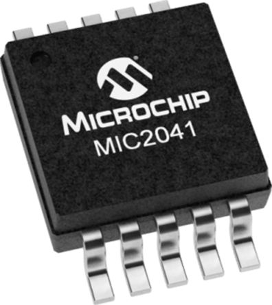 Microchip MIC2041-1YMM, 1 Power Switch IC, High Side Switch 10-Pin, MSOP