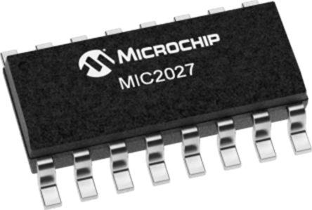 Microchip Technology MIC2027-1YM, Quad USB Power Switch High Side, 180mΩ, 2.7 V min. 16-Pin, SOIC