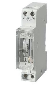 1 Channel Analogue DIN Rail Time Switch Measures Days, 230 V