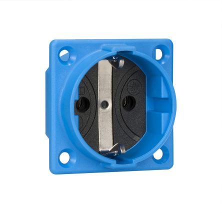 ABL Sursum Blue Plug Socket, 2P + PE Poles, 16A, Schuko