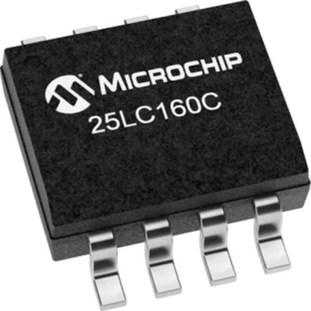 Microchip Technology 25LC160C-I/SN, 16kbit Serial EEPROM Memory 8-Pin SOIC  SPI