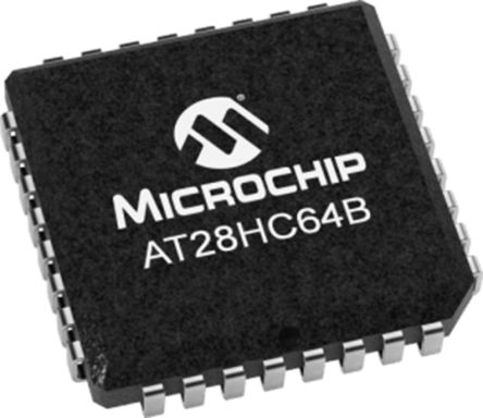 Microchip Technology AT28HC64B-12JU, 64kbit Parallel EEPROM Memory, 120ns  32-Pin PLCC Parallel