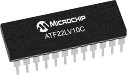 Microchip Technology ATF22LV10C-10PU, SPLD Simple Programmable Logic Device ATF22LV10C 10 Macro Cells, 22 I/O, ISP, 10ns