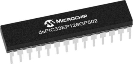 DSPIC33EP128GP502-I/SP Microchip DSPIC, 16bit Digital Signal Processor 60MHz 128 kB Flash 28-Pin SPDIP