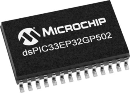 DSPIC33EP32GP502-I/SS Microchip DSPIC, 16bit Digital Signal Processor 60MHz 32 kB Flash 28-Pin SSOP