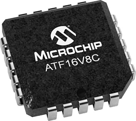 Microchip ATF16V8C-7JU, SPLD Simple Programmable Logic Device ATF16V8C 8 Macro Cells, 18 I/O, ISP, 5ns EECMOS 20-Pin