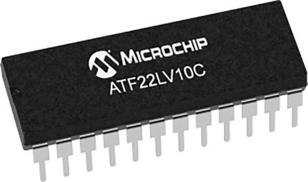 Microchip Technology ATF22LV10C-10PU, SPLD Simple Programmable Logic Device ATF22LV10C 10 Macro Cells, 22 I/O, ISP, 10ns