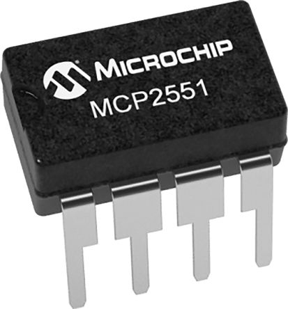 Microchip MCP2551-E/P, CAN Transceiver 1Mbit/s 1-Channel ISO 11898, 8-Pin PDIP