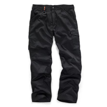 Black Men's Fabric Trousers Imperial Waist 36inMetric Waist-92cm product photo