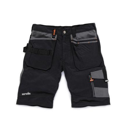 Scruffs Trade Black Men's Fabric Shorts Waist Size 36in