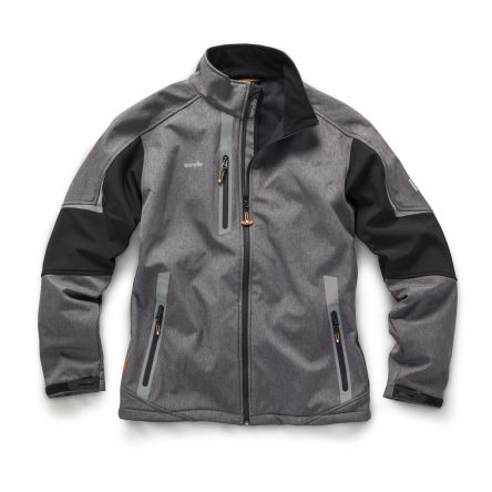 Scruffs Pro Softshell Charcoal L Fabric Softshell Jacket
