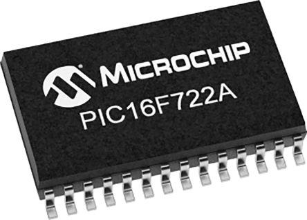 PIC16LF722A-I/SS, 8bit PIC Microcontroller, 20MHz, 3.5 kB Flash, 28-Pin SSOP product photo